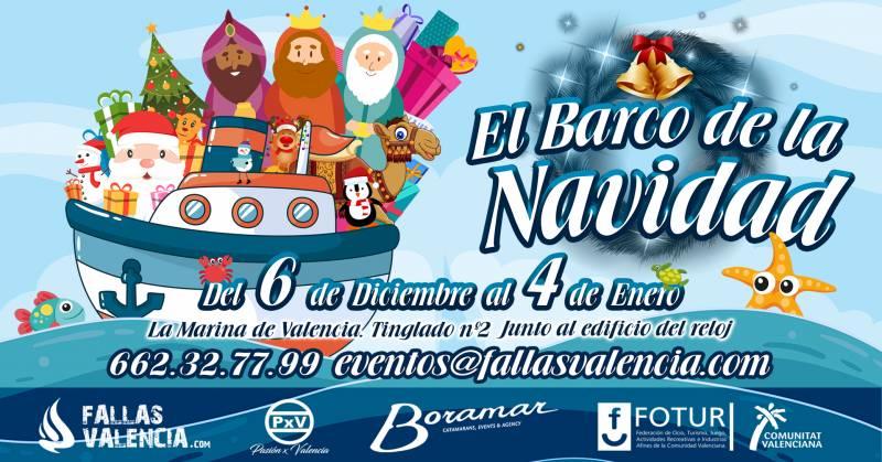 """FALLAS VALENCIA.com, PASIÓN x VALENCIA, FOTUR y el Grupo BORAMAR presentan la iniciativa más novedosa de la campaña Navidad-Reyes en Valencia; """"EL BARCO DE LA NAVIDAD"""""""