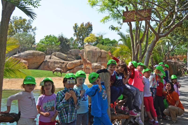 Expedición África Pascua - BIOPARC Valencia - escuela de vacaciones - expertos en jirafas