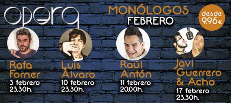 Monologos febrero Casino Cirsa Valencia