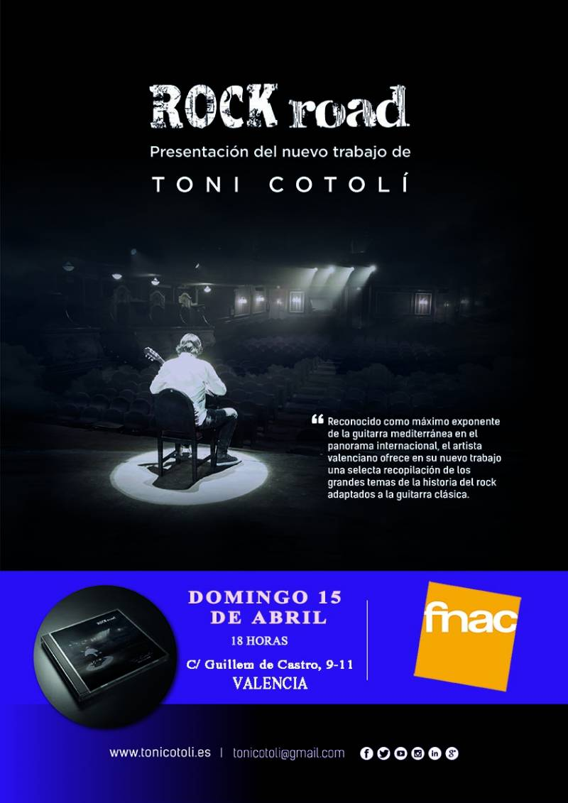 CARTEL ROCK ROAD FNAC VALENCIA