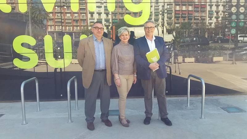 Vicent Llorens, PIlar Moncho i Evarist Caselles