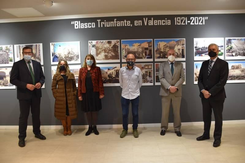 Joaquín Cerveró, director de El Corte Inglés Pintor Sorolla-Colón; Ignacio Soler; José Plana Valera, Marga Preda, Glòria Trello y Pau Pérez Rico. EPDA.