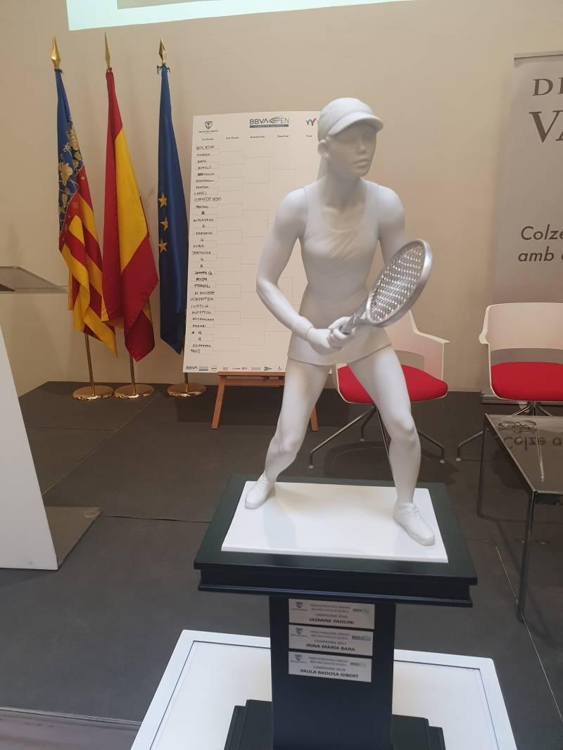 El trofeo del Open Ciudad de Valencia