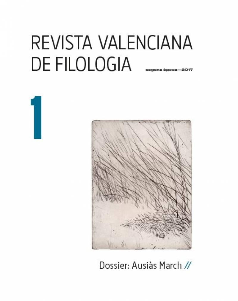 Portada Revista Valenciana de Filología