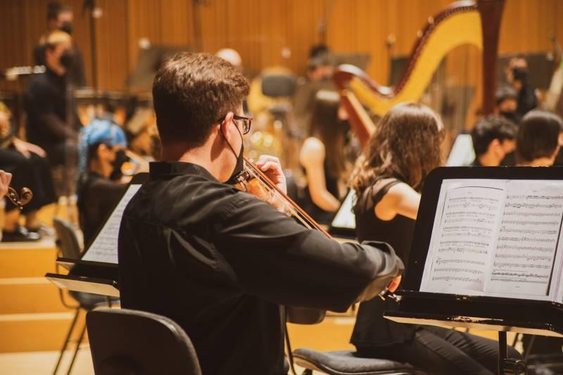 Orquestra Sinfónica de la FSMCV en el Palau de Les Arts. EPDA