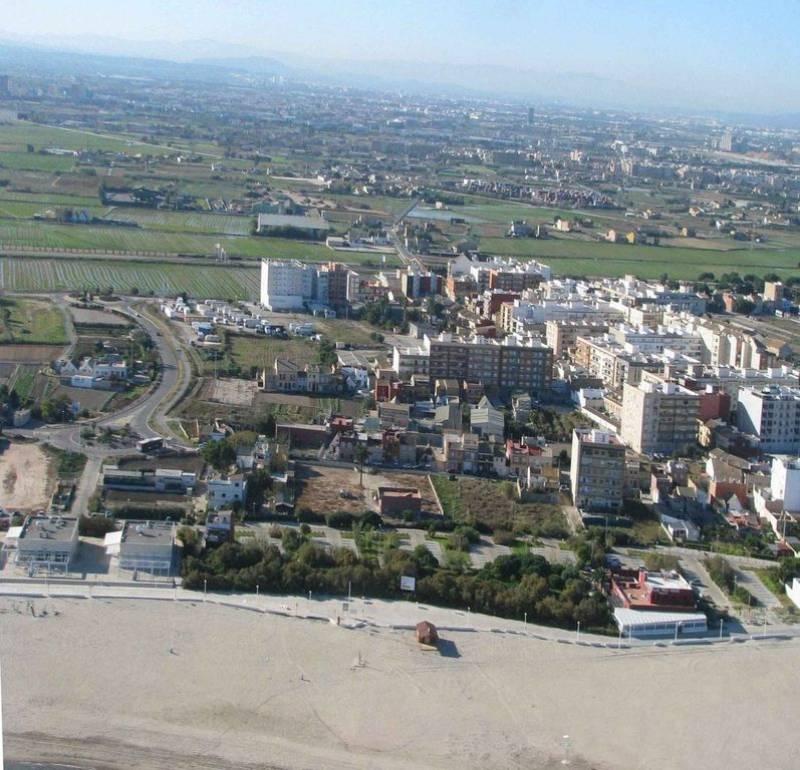 Vista aérea de parte de Pinedo