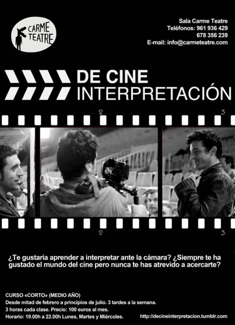 Cartel del curso de interpretación para cine. //Viu Valencia