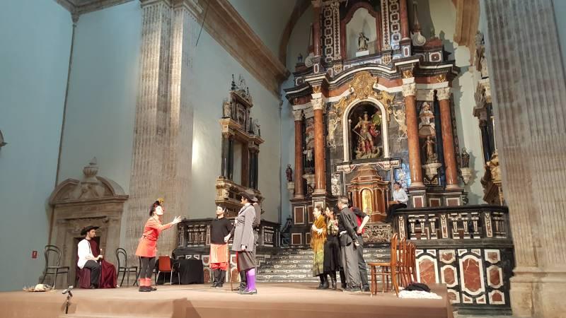 Representación teatral de dos de los entremeses de Cervantes. //viu valencia