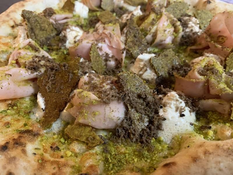 Pizza ganadora - Rosa de Pistacchio