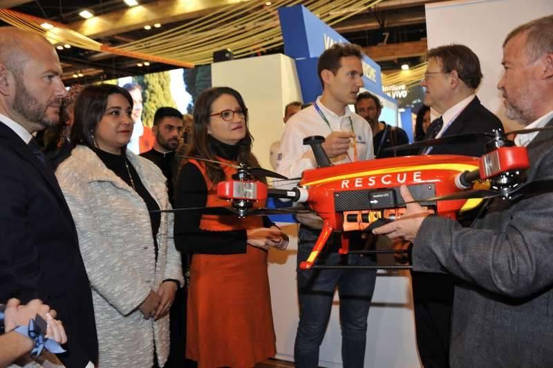 El alcalde de Sagunt y concejala de Turismo con el president de la Diputació, el president de la Generalitat y la vicepresidenta