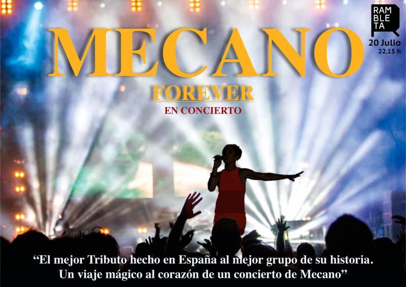 Mecano Forever el sábado 20 de julio en La Rambleta 22:00 h