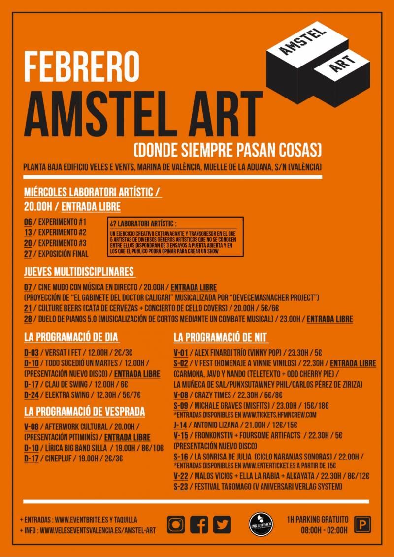 Cartel febrero Amstel Art