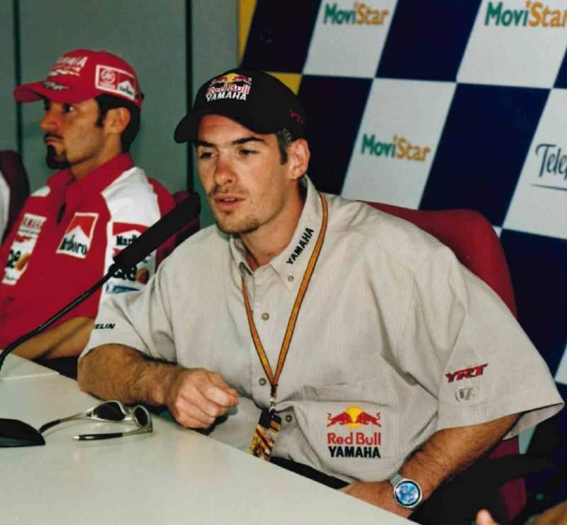 Regis Laconi press conference GP Comunitat Valenciana 1999