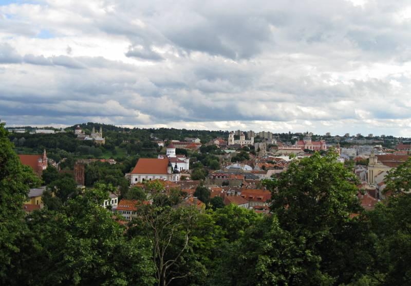 Vista de la ciudad desde la Torre Gedimias, Foto Clara Estrems, Las sandalias de Ulises