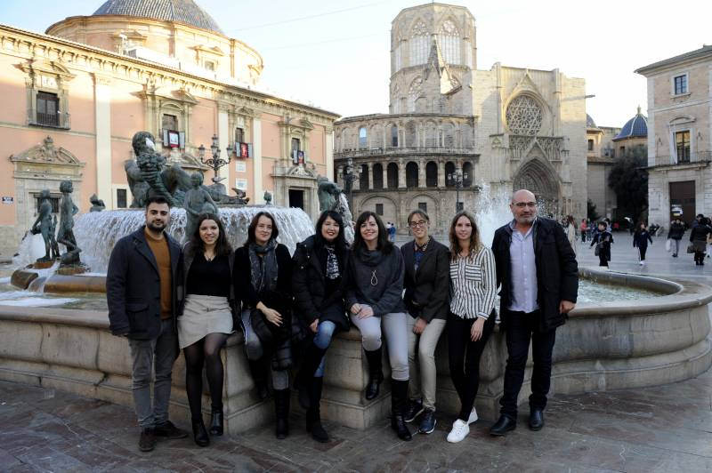 Rius y Claudia Montero, Esther Torró, Sara Galiana, Raquel Sánchez, Iluminada Pérez y Mª José Belenguer