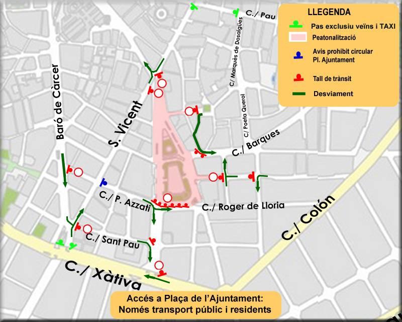 Peatonalización Ayuntamiento