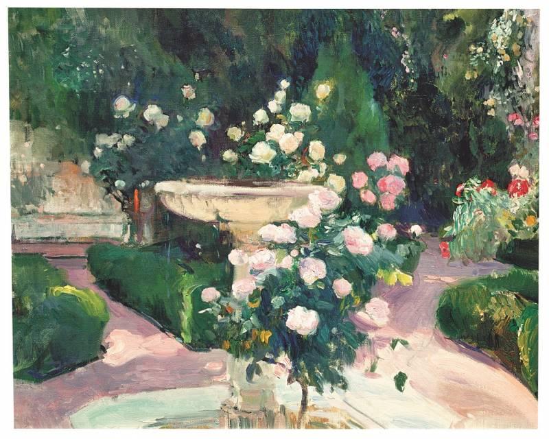 Fuente y rosal de la Casa Sorolla. Joaquín Sorolla