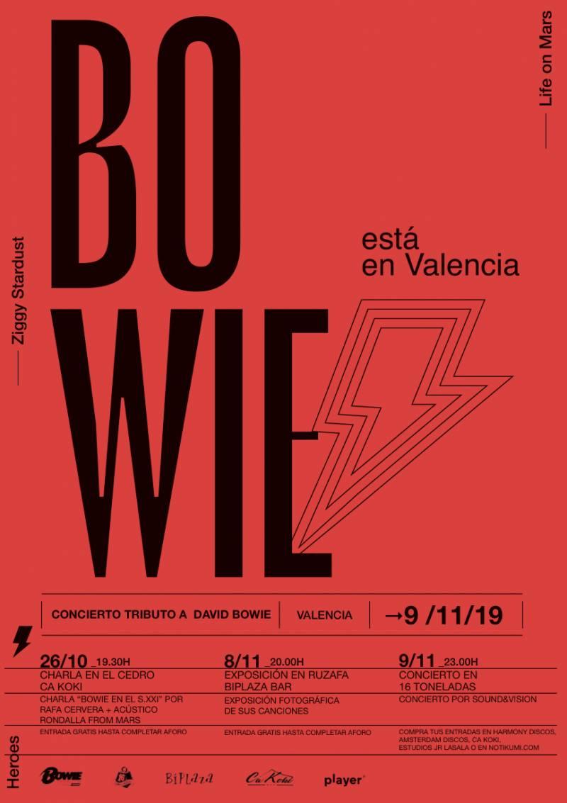 El espíritu de Bowie se instala en Valencia con una triple cita musical y expositiva