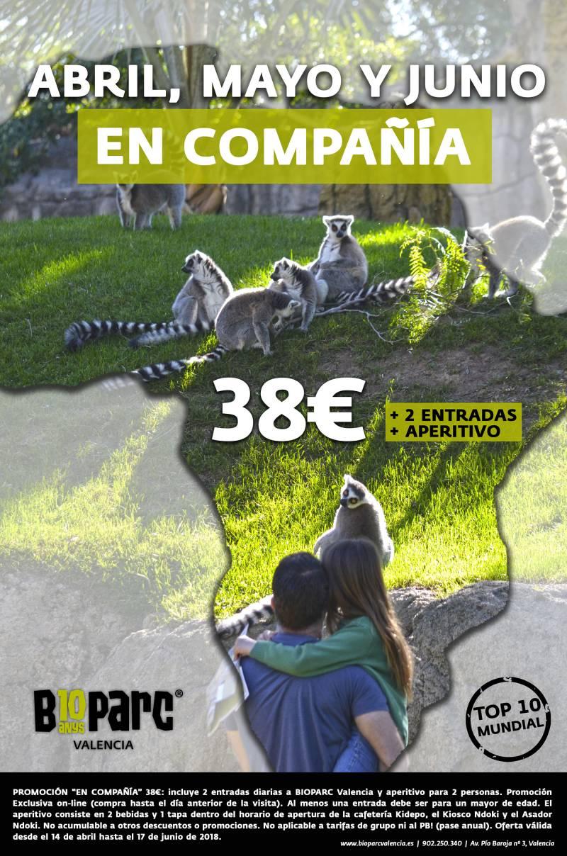 Promoción EN COMPAÑÍA - primavera 2018 BIOPARC