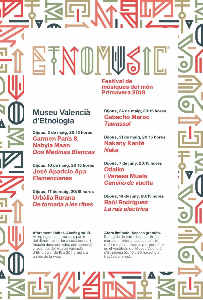 Cartel conciertos Etnomusic