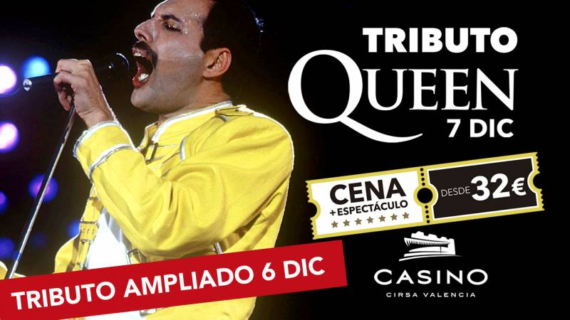 Tributo a Queen 6 diciembre Casino Cirsa Valencia