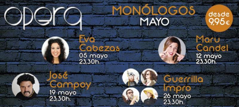 Monólogos mayo Casino Cirsa Valencia