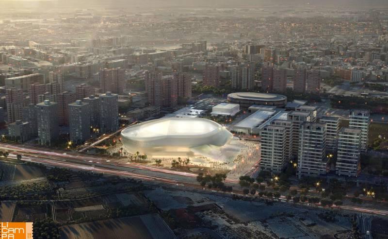 Simulación del nuevo Pabellón Arena