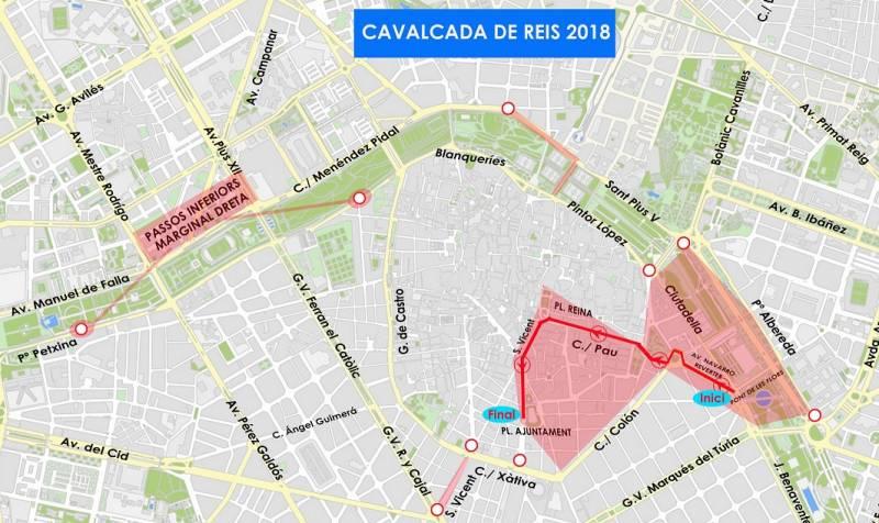 Tráfico Cabalgata de Reyes