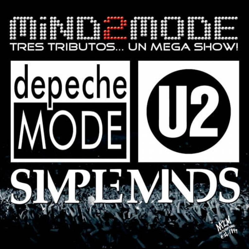 Cartel del tributo a Depeche Mode, U2 y Simple Minds por Mind2Mode.