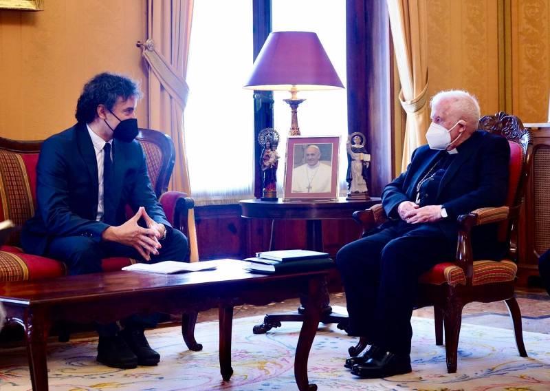 Reunión entre Francesc Colomer y Antonio Cañizares. EPDA