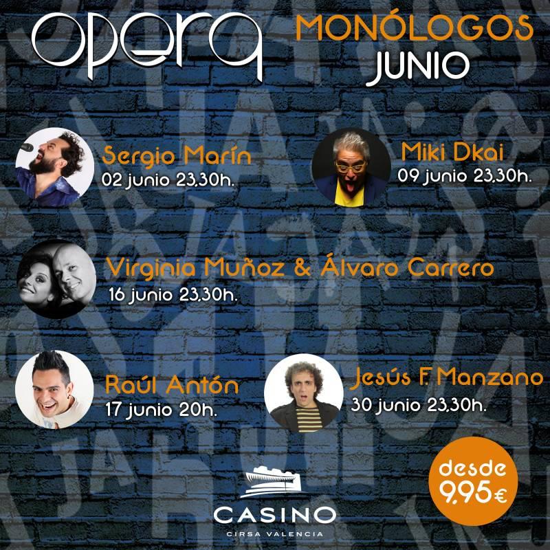 Monólogos junio Casino Cirsa Valencia