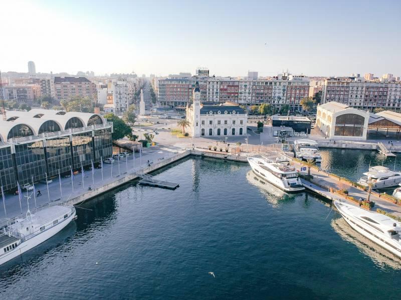 La Marina de Valencia desde el aire