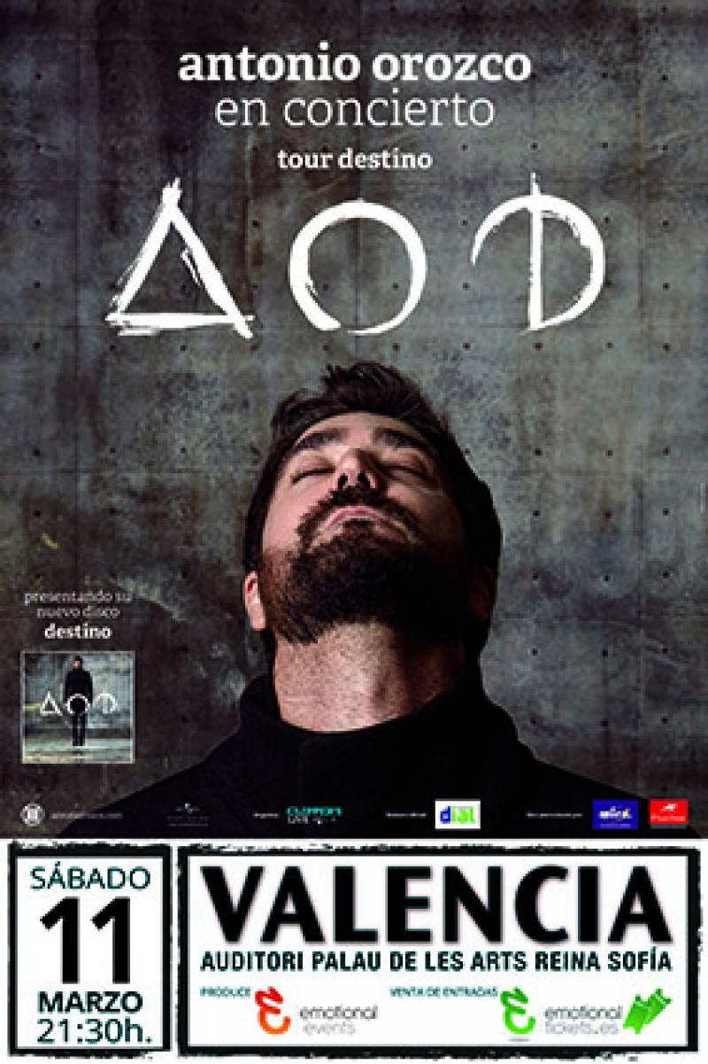 Cartel de la actuación de Antonio Orozco