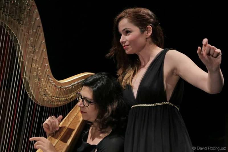 De soprano y arpa