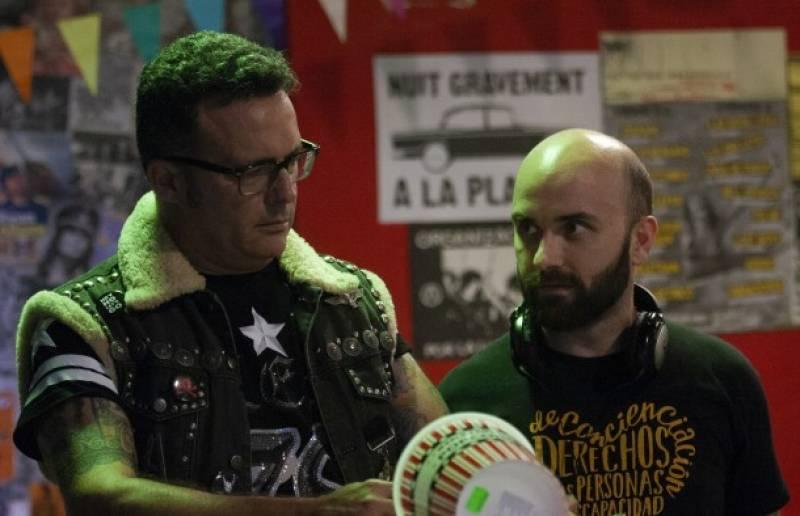 José M. Casañ y Miguel A. Font en el rodaje de