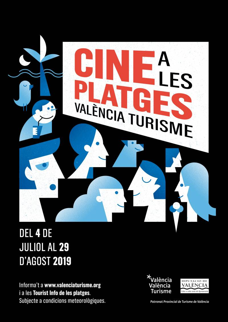 Cartel Cine playas 2019