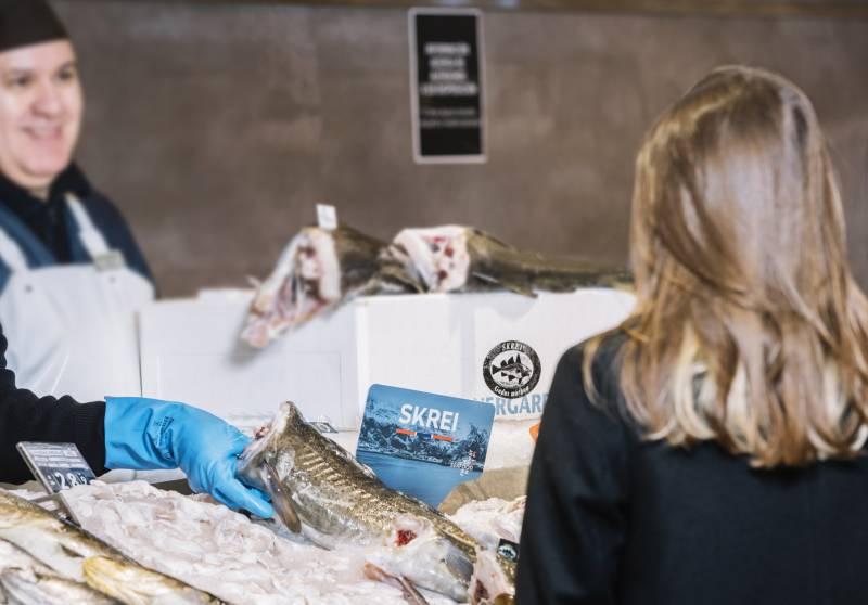 Mostrador pescadería El Corte Inglés
