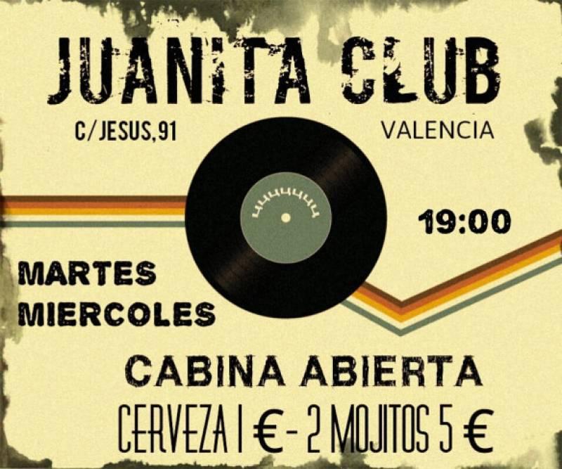Juanita Club ofrece a los djs una oportunidad única con Cabina Abierta : : Juanita Club