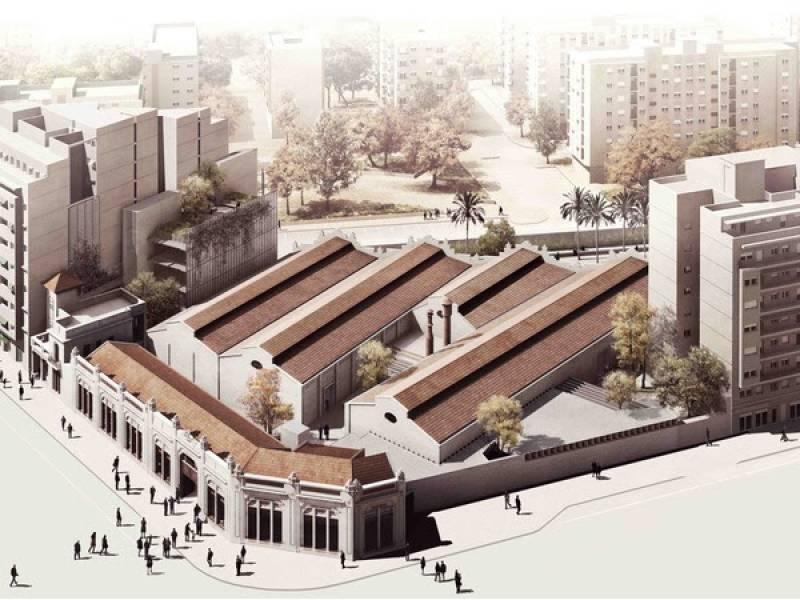 La superficie total será de más de 700 metros entre sala, cocina y zonas ajardinadas//Viu València