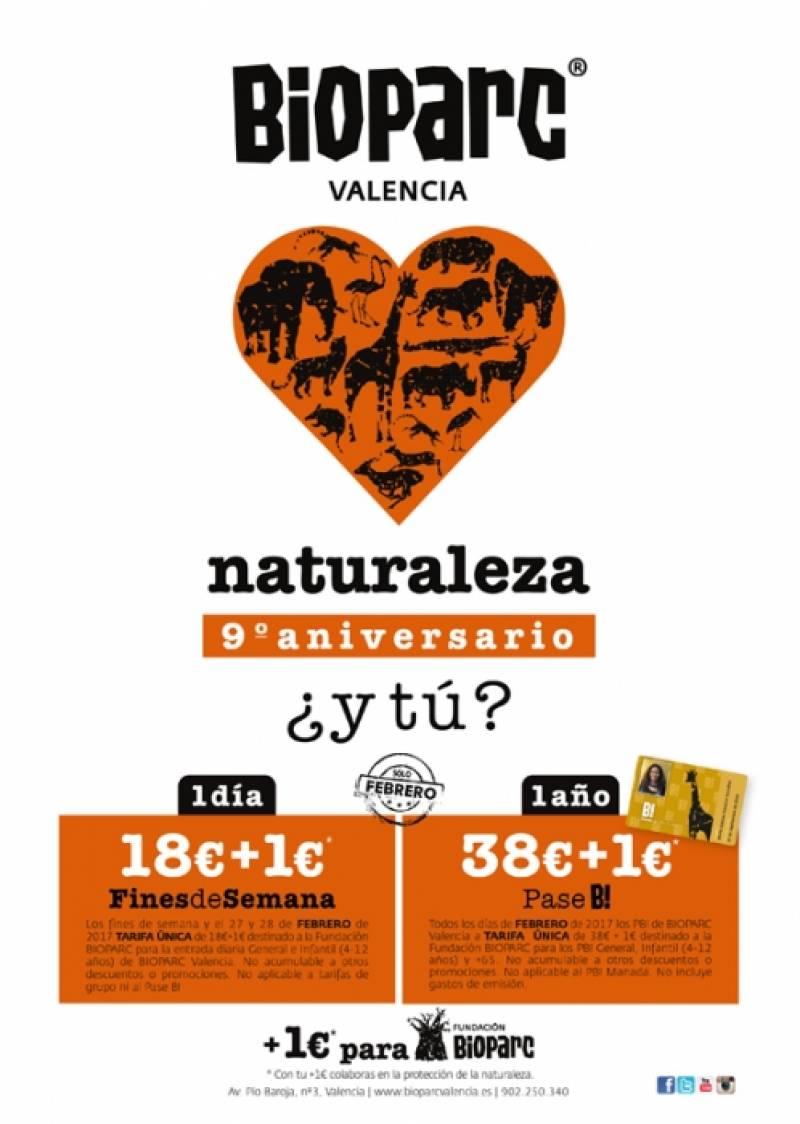 Bioparc Valencia, promociones 9º aniversario