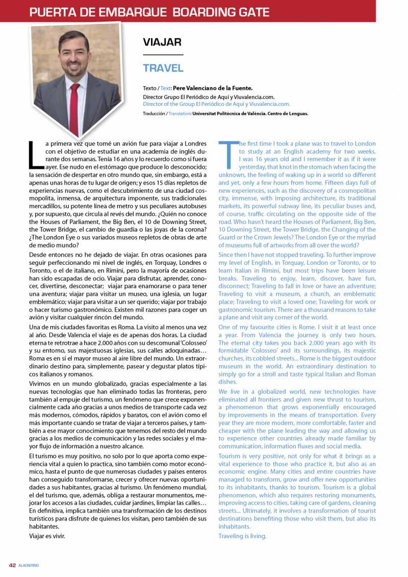 Artículo de Pere Valenciano en Aladierno, revista de Air Nostrum.