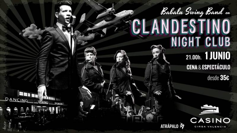 Clandestino Night Club: viaja hasta el Chicago de los años 40 en Casino Cirsa Valencia