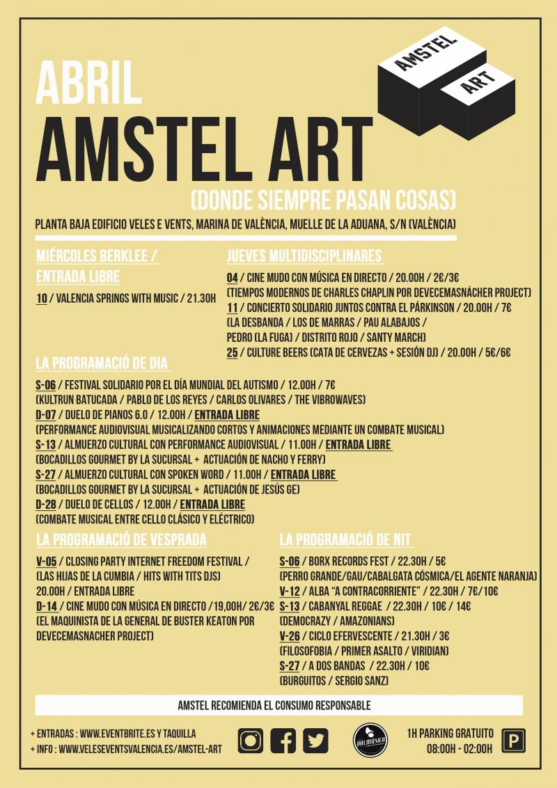 CARTEL ABRIL AMSTEL ART