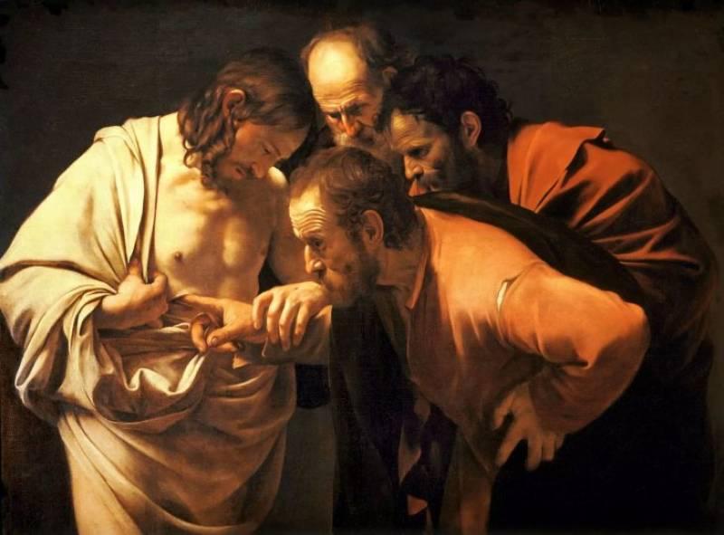 La Incredulidad de Santo Tomás después de Caravaggio.EPDA