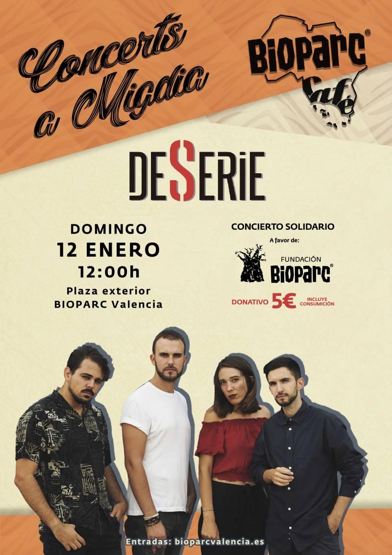 Concierto solidario DESERIE - BIOPARC Valencia