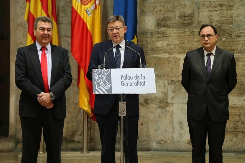 Carlos Bertomeu, Ximo Puig y Vicent Soler