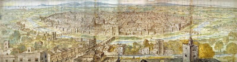 Vista de Valencia en 1563, del pintor flamenco Wijngaerde.