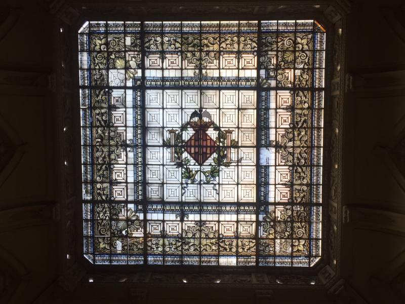 Vidriera vestíbulo Ayuntamiento