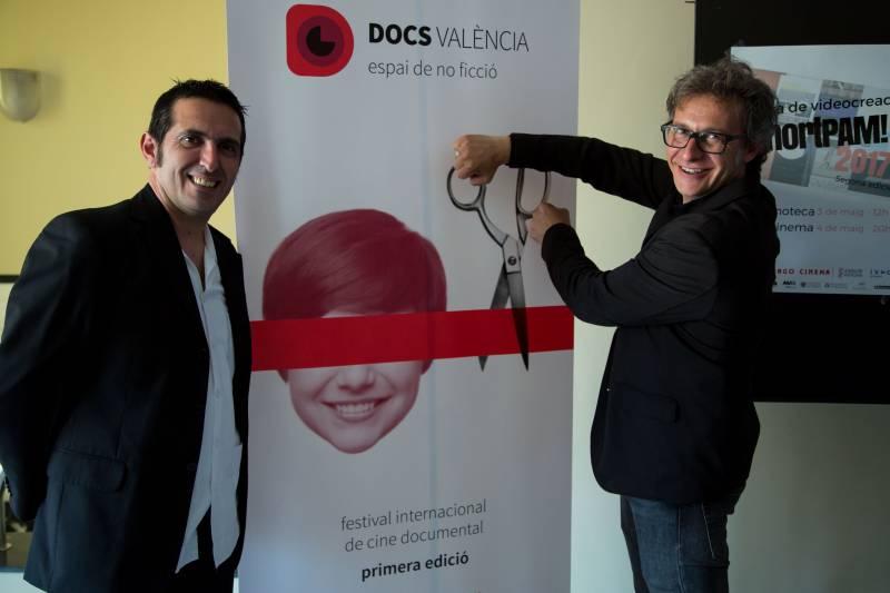 Los directores del Festival DocsValència Pau Montagud y Nacho Navarro