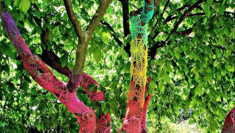 Unda de las obras de arte urbano expuestas : : Jardín Botánico